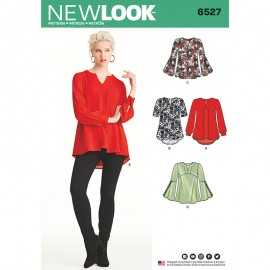 Flared Blouse Sewing Pattern for Woman - New Look 6527
