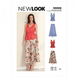 All-In-One Sewing Pattern for Woman - New Look 6668