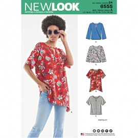 Open Neckline Blouse Sewing Pattern for Woman - New Look 6555
