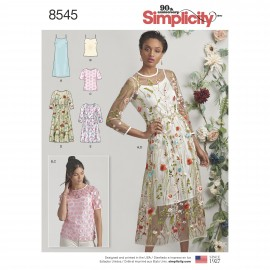 Long sleeves dress sewing Pattern for Woman - Simplicity n°8545