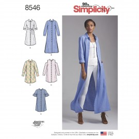 Shirt collar dress sewing Pattern for Woman - Simplicity n°8546