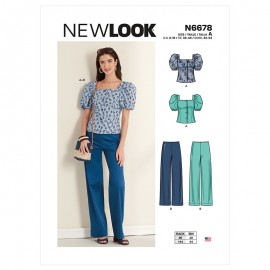 All-In-One Sewing Pattern for Woman - New Look 6678