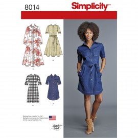Shirt collar dress sewing Pattern for Woman - Simplicity n°8014