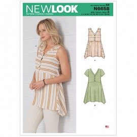 Flared Top Sewing Pattern for Woman - New Look 6658