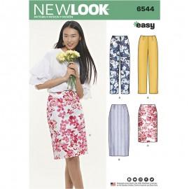 Patron Jupe Tailleur  Femme - New Look 6544