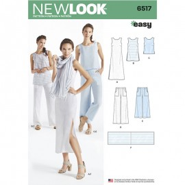 All-In-One Sewing Pattern for Woman - New Look 6517