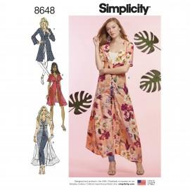 Caftan dress sewing Pattern for Woman - Simplicity n°8648