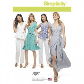 Wrap dress sewing Pattern for Woman - Simplicity n°8137