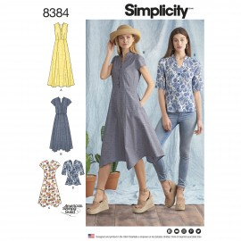 Tunisian collar dress sewing Pattern for Woman - Simplicity n°8384