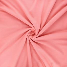 Tissu jersey viscose uni - rose thé x 10 cm