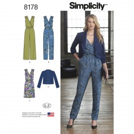 Jumpsuit sewing Pattern for Woman - Simplicity n°8178