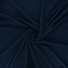 Plain viscose jersey fabric - navy blue x 10 cm