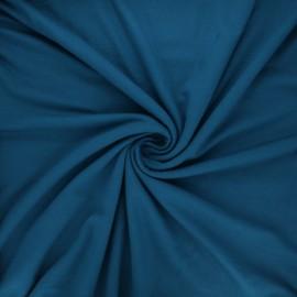 Plain viscose jersey fabric - duck blue x 10 cm