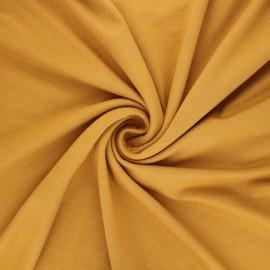Plain viscose jersey fabric - ochre x 10 cm