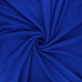 Plain viscose jersey fabric - royal blue x 10 cm