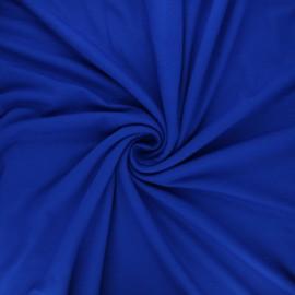 Tissu jersey viscose uni - bleu roi x 10 cm