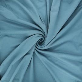 Tissu jersey viscose uni - sarcelle x 10 cm