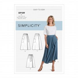 Wrap skirt sewing Pattern for Woman - Simplicity n°S9109