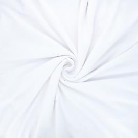 Plain viscose jersey fabric - white x 10 cm