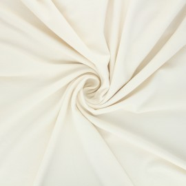 Tissu jersey viscose uni - écru x 10 cm
