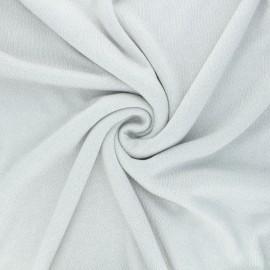 Lurex viscose knit fabric - pearl grey Shiny x 10cm