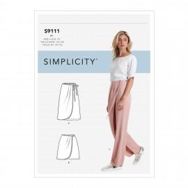 Patron Pantalon portefeuille Femme - Simplicity n°S9111