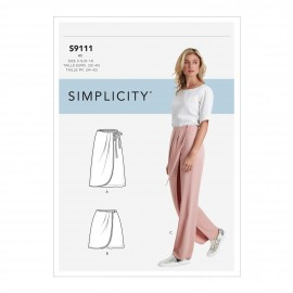 Wrap pants sewing Pattern for Woman - Simplicity n°S9111