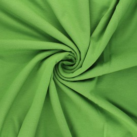Tissu jersey viscose uni - vert avocat x 10 cm