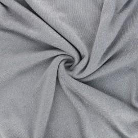 Lurex viscose knit fabric - light grey Shiny x 10cm