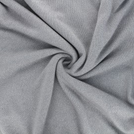 Tissu maille viscose lurex Shiny - gris clair x 10cm
