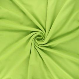 Tissu jersey viscose uni - vert clair x 10 cm