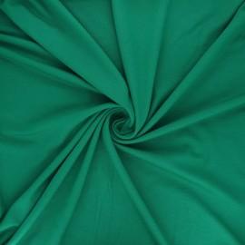 Tissu jersey viscose uni - vert émeraude x 10 cm