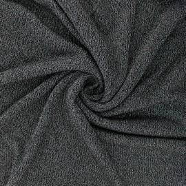 Tissu maille viscose lurex Shiny - noir x 10cm