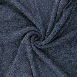 Lurex viscose knit fabric - midnight blue Shiny x 10cm