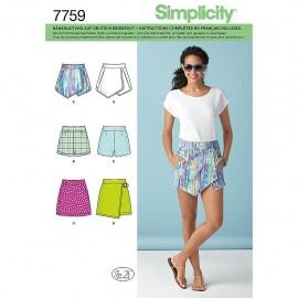Skort sewing Pattern for Woman - Simplicity n°1370