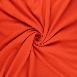 Tissu jersey viscose uni - rouille x 10 cm