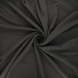 Tissu jersey viscose uni - taupe foncé x 10 cm