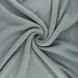 Lurex viscose knit fabric - grey green Shiny x 10cm