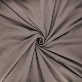 Tissu jersey viscose uni - châtaigne x 10 cm