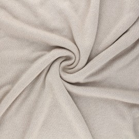 Lurex viscose knit fabric - sand Shiny x 10cm
