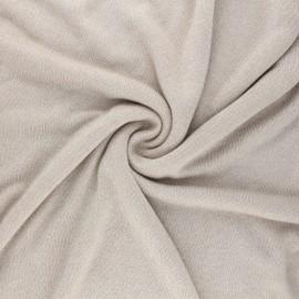Tissu maille viscose lurex Shiny - sable x 10cm