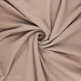 Tissu jersey viscose uni - beige foncé x 10 cm