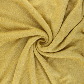 Lurex viscose knit fabric - yellow Shiny x 10cm