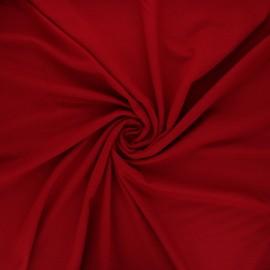 Tissu jersey viscose uni - rouge foncé x 10 cm