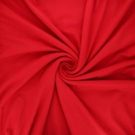 Tissu jersey viscose uni - rouge passion x 10 cm