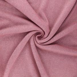 Lurex viscose knit fabric - old pink Shiny x 10cm