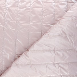 Quilted lining metallic fabric - powder pink Paddy x 10cm