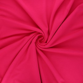 Tissu jersey viscose uni - framboise x 10 cm