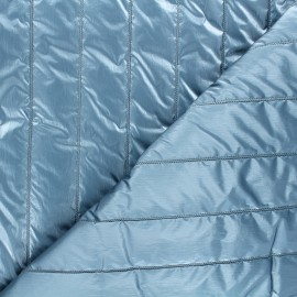 Quilted lining metallic fabric - blue Paddy x 10cm