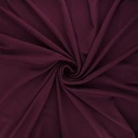 Tissu jersey viscose uni - aubergine x 10 cm